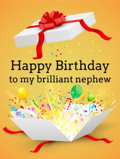 To My Brilliant Nephew