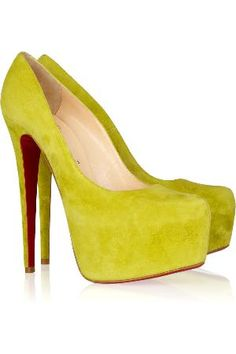 Christian Louboutin Daffodil 160 Suede Platform Pumps