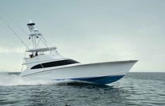 F&S - Blue Time Blue Time, the new from Delaware-based F&S Boatworks, is a single-minded, impeccably built custom boat designed and built solely to be a viable player on the fishing circuit. Ocean Fishing Boats, Sport Fishing Boats, Viking Yachts, Marine Diesel Engine, Offshore Boats, Shrimp Boat, Boat Engine, Gone Fishing, Sea Fishing