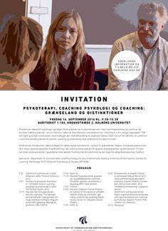 Hent invitation til En-dags konference: Psykoterapi, coaching psykologi og coaching: Grænseland og distinktioner