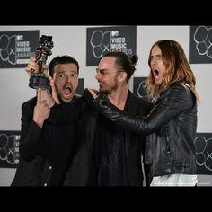 WE WON! WE LOVE YOU GUYS. BEST ROCK VIDEO! #MTV #VMA #30secondstomars #shannonleto #jaredleto #tomomilicevic #UpInTheAir #Echelon @Shannon Bellanca Leto @Angela Faranda SECONDS TO MARS @tomofromearth @Jared Randall LETO