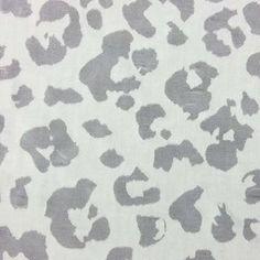 Fashion Linen Fabric- Leopard Burnout Ivory Linen