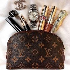 Shared by Maja. Find images and videos on We Heart It - the app to get lost in what you love. Louis Vuitton Sneakers, Louis Vuitton Makeup Bag, Louis Vuitton Cosmetic Pouch, Louis Vuitton Homme, Louis Vuitton Handbags, Louis Vuitton Monogram, Chanel Handbags, My Bags, Purses And Bags