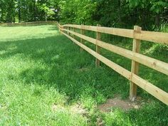 Building a Wooden Horse Fence