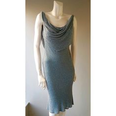 Dazzle this summer sparkling topaz - a beaded silk dress with cowl detail