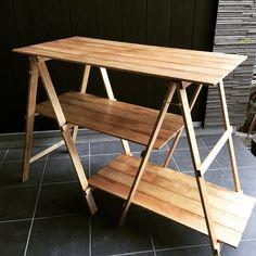 ワイドテーブル 3段 キャンプ*アウトドア Picnic Table, Carpentry, Drafting Desk, Wood Furniture, Dining Bench, Repurposed, Tent, Camping, Display