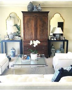 custom grasscloth console tables - Liven Up Design -one of the best Etsy shops