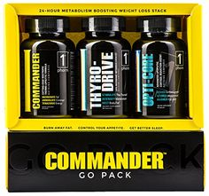 COMMANDER GO PACK Weight Loss System • 30 Day Supply: