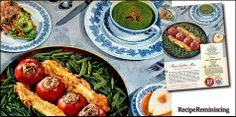 Baked Stuffed Tomatoes - A recipe from an ad A&P AND Regalo published in 1947
