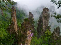 Zhangjiajie, eerie but beautiful part of China.