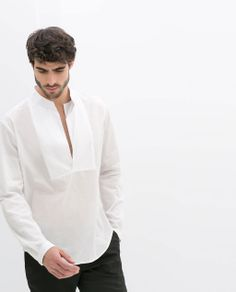 ZARA - MAN - VOILE SHIRT WITH MAO COLLAR 199