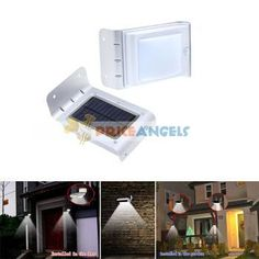 LED Solar Pannel Powered Light Sound Voice Control Outdoor Garden Wall Lamp Price: $14.82