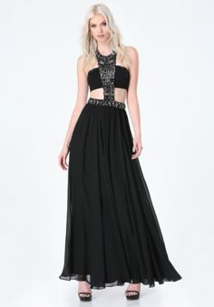 Jeweled Bandeau Gown