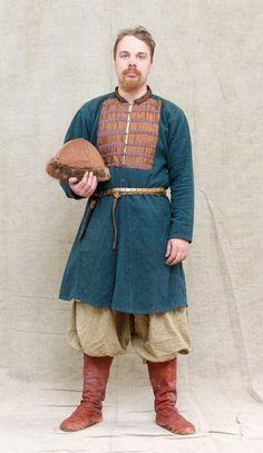 Costume Eastern Slavs: Slovens from Novgorod, 10 -11 се. 10 в. дружинник. Новгород Заявки на Времена и Эпохи 2016 | 27 фотографий