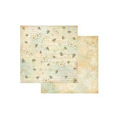 Papier Stamperia - Ostrokrzew - Beż z brokatem