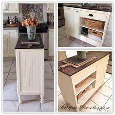 Kitchen Island Small Space sideboard turned kitchen island - wayfair hack | kitchens