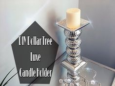 DIY: Candle Holder Centerpiece Set of 2 | Bling Wedding | Goodwill | Dollar Tree | Michael's - YouTube