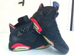 My first-ever pair of Jordans as a kid. Air Jordan 6 Infrared