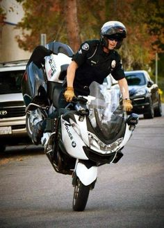 Police! Motorcycle cops scare other cops. #truth