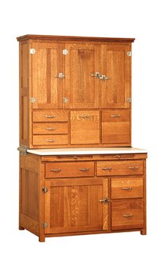 "http://ahfurniture.com/hutches.html Manasses Henry ""Grandpa's Hoosier Cabinet"""