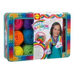 Alex Crochet a Rainbow Scarf Set 8+ - £19.99 - A great range of Alex Crochet A Rainbow Scarf Set 8 - FREE Delivery over £25!