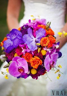 Featured Bouquet | Colorful Textural Mix Inspired by Carnivale | Chicago Wedding Florist