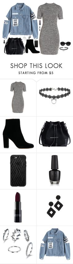 """""""Untitled #1384"""" by nine-nine ❤ liked on Polyvore featuring French Connection, Carla Zampatti, Casetify, Kenneth Jay Lane and Skagen"""
