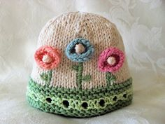 Cotton Knitted Baby Hat   Hand Knitted Baby Hat por CottonPickings, $24.00