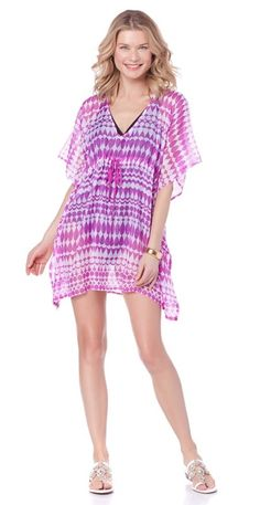 This ECHO drawstring cover-up is so flattering and the perfect addition for your poolside and vacation wardrobe! Out of all the patterns & colors to choose from, which do you have your eye on?