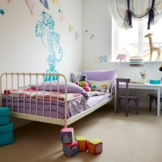 Children will love to play, learn and rest in this pastel-decorated bedroom in the 'Flatford' at The Chariots at Augusta Park in Andover, Hampshire Taylor Wimpey, Wall Hanging Storage, Phoenix Design, Wall Finishes, Make Your Bed, New Homes For Sale, Cool Chairs, Home Look, Beautiful Bedrooms