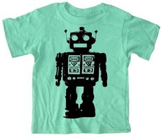 Robot T Shirt for toddlers and kids Futuristic by happyfamily, $16.00