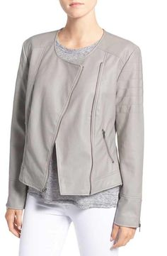 cupcakes and cashmere 'Kadence' Faux Leather Asymmetrical Moto Jacket