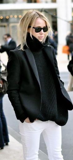 Black + white #outfit #fashion girl