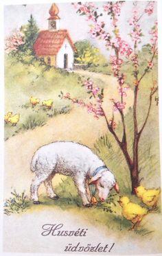 Hungarian Vintage Easter Cards easter_card_044