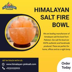We are leading manufacturer of Himalayan salt fire bowl from Pakistan. Our salt fire bowl are 100% authentic and handmade produced. These are perfect for home, offices and as a night lamp. For order Contact us: (+92) 311-1559111 Email: info@himalayan-pinksalt.com #himalayan_salt_wall #himalayan_salt_usblamp_exporter #himalayan_salt_manufacturer #himalayan_salt_exporter #himalayan_pinksalt_exporter #himalayanpinksalt #HimalayanEdibleSalt Himalayan Salt Benefits, Himalayan Salt Bath, Stress And Depression, Fire Bowls, Night Lamps, Bath Salts, Offices, Pakistan, Allergies