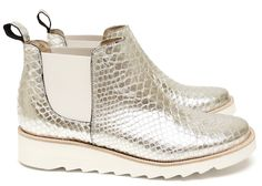 Chaussures Femme Boots Printemps Eté 2015 Maurice Manufacture BRENDA Critaux argent