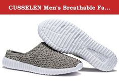 CUSSELEN Men's Breathable Fabric Sneakers Leisure Loafer Mesh Shoes,Closed Toe Slippers. These shoes are using imported sandwich fabric, the bottom is soft TPR (shock proof).Soles can be bent,curled,wear-resistant slip.It is especially design for people wear at summer.People can wear in indoor and outdoor.