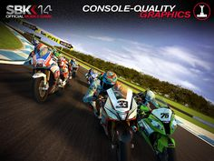SBK14 Official Mobile Game could benefit from MOGA support but regardless, this is a very decent racing game....