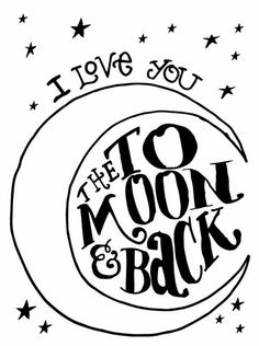 Letterpress Plate: To the Moon and Back at I love you to the moon and back is a great sentiment for a project life card