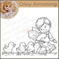 Whimsy Crissy Armstrong Rubber Stamp - Follow Me