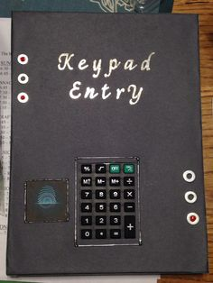 """Cardboard box """"keypad entry"""" made with calculator for VBS 2014 Agent D3"""