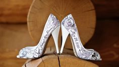These wedding shoes are exclusive. You'll own the only pair in the world, personally customized just for you.