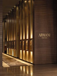 Armani Hotel ~ the only luxury hotel that is housed in the Burj Khalifa, the…