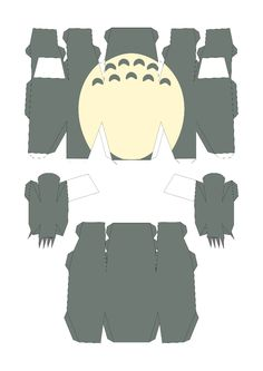 Totoro Papercraft Template
