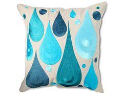 .blue droplets pillow