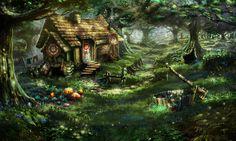 Forest hideout. , Evgeny Pasternak on ArtStation at https://www.artstation.com/artwork/2yY0y