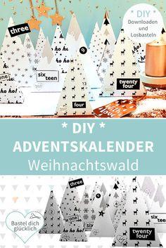HOME - DIY Shop & Blog: DOWNLOADEN - DRUCKEN - GLÜCKLICH SEIN! Diy Advent Calendar, Countdown Calendar, Hobbies For Kids, Hobbies And Crafts, Print Calendar, Diy Weihnachten, Wonderful Time, Origami, Christmas Crafts