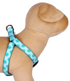 Ribbon dog Harness  Cotton 100 polka dots turquoise blue pet harness for puppy small dog to large dog Handcrafted and made in the USA >>> Details can be found by clicking on the image.Note:It is affiliate link to Amazon.