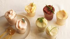 Asian-influenced lychee and lemongrass sorbet has a tangy, clean taste in this palate-cleansing treat.