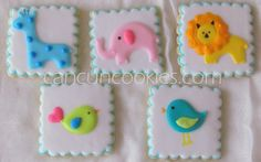 Baby Shower COOKIES ~ GALLETAS para Baby Shower      Working on this COOKIE set was really fun! The images were used for the invitation an...